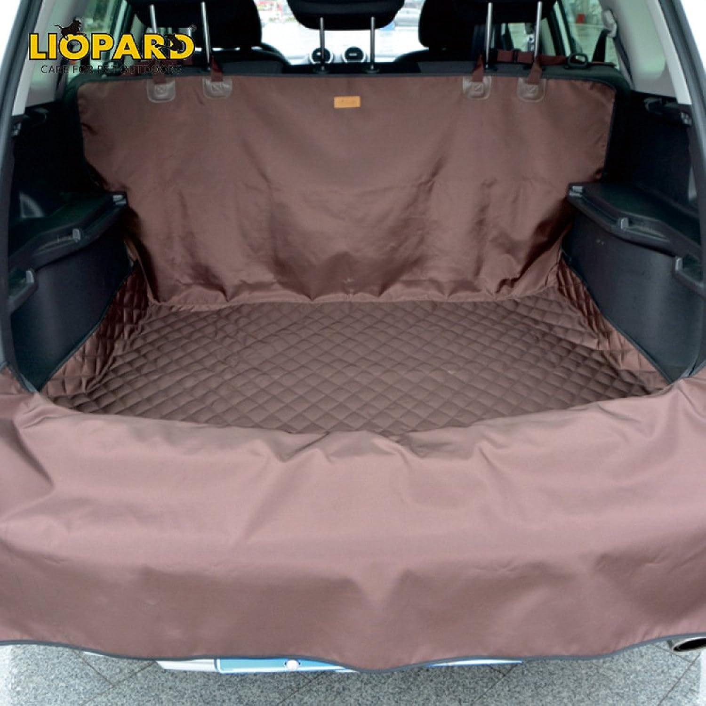 Car Pet Mat Car Trunk Pet Seat Cushion Dog Pad Oxford Cloth Waterproof Detachable,Brown