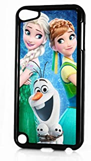 (for iPod Touch 6 / iTouch 6) Black Frame Back Case Cover - HOT11546 Frozen Elsa