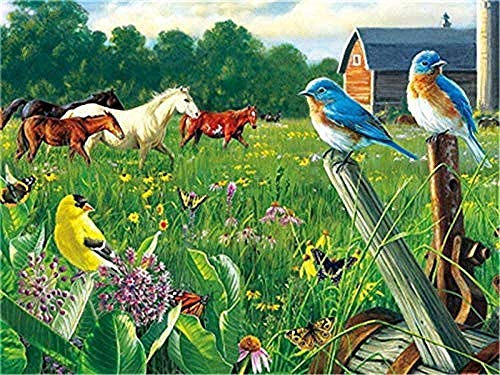 1000 piezas de rompecabezas para adultos, caballo, pájaro, granja, niños, 3D, juego de rompecabezas de madera, juguetes interesantes, regalo personalizado, hogar, familia, juego de rompecabezas
