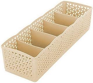 Boîte de rangement pour tiroir en rotin sous-vêtements chaussettes Classification 5 panier de rangement en grille boîte de...