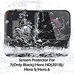 [4pcs] diruite screen protector for gopro hero 7(only black)/hero hd(2018)/hero 6/hero 5, ultrathin clear tempered glass… 12 【compatible model】perfectly fit for gopro hero 7 black/ hero 6/ hero 5/ hero hd 2018. (not fit for gopro hero 8 / hero 7 white/ silver) 【product material】high quality 9h hardness glass,avoid screen and lens from accidental scuffs and scratches by knife, keys and other hard objects. 【product features】full coverage screen protection / hd clear viewing experience / bubble-free / easy to install