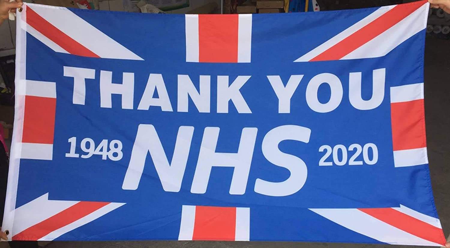 chlius Thank You NHS and Key Workers Flag Banner NHS Supports Flag 2020 Love Support NHS Health Nurse Doctor