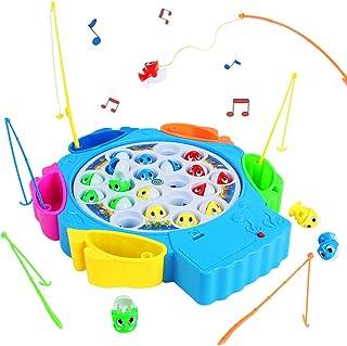 Jeux Peche a La Ligne Enfant Jeux Musical avec Poisson Plastique Canne a Pêche Jouet..