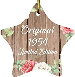 67th Birthday Original 1954 Limited Edition - Star Wood Ornament B Christmas Tree Hanging Decor - for Friend Kid Daughter ...