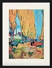 1art1 Vincent Van Gogh - Les Alyscamps, 1888 Póster De Colección Enmarcado (80 x 60cm)