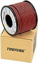 TUOFENG 18 AWG Cable eléctrico 40 metros [Negro 20 m Rojo 20 m] Cable flexible de silicona 2 Conductor Línea de cable paralelo Alambre de cobre estañado