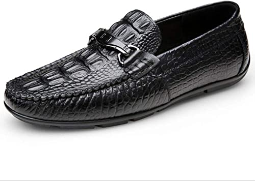 Hy Herren Lederschuh, Frühling Herbst Stylish Peas Schuhe, Loafers & Slip-Ons Faule Schuhe, Bequeme Breathable Driving Schuhe Office & Karriere