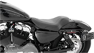 Mustang 76570 Tripper Solo Motorcycle Seat for Harley-Davidson Sportster 2004-20 with 2.1 and 3.3 Gallon Tank, Black