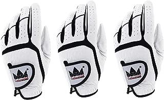 CRAFTSMAN(クラフトマン) ゴルフグローブ メンズ 左手用 スポーツ手袋 3枚入りセット 超繊生地 滑り止め マジックテープ 23 24 25 26 27 ホワイト グレー