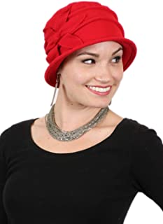 Fleece Flower Cloche Hat for Women Cancer Headwear Chemo Ladies Head Coverings