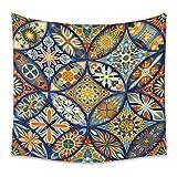 Tapicería de pared -Mandala Tapices Bohemia Colgando de la pared de la pared Colgando como arte de pared y decoración para el hogar para dormitorio, sala de estar, d F- 150x200CM