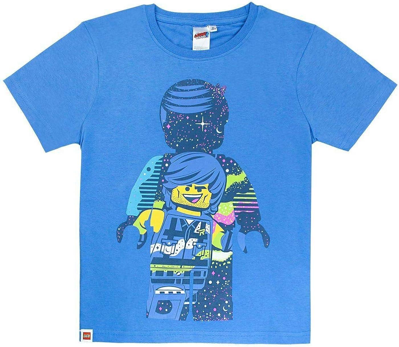 Lego Movie 2 Rex Dangervest Boys Blue Short Sleeve T-Shirt 8 Years