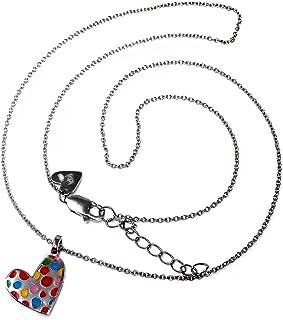 Silver Pendant Agatha Ruiz De La Prada 42cm. Heart [Ab5658]