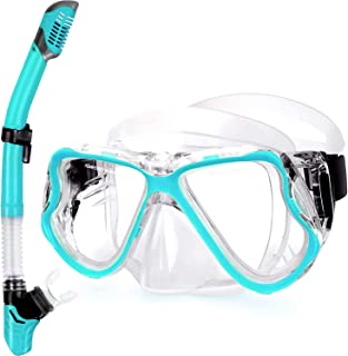 Greatever 2019 Newest Dry Snorkel Set,Panoramic Wide View,Anti-Fog Scuba Diving Mask,Easy Breathing and Professional Snork...