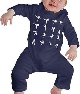 Dee O.STORE Infant Baby Girls Boys Jumpsuit Overall Romper Muay Thai Sleep and Play Bodysuit Sleepwear