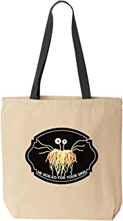 FSM Flying Spaghetti Monster He Boiled for Your Sins Canvas Tote
