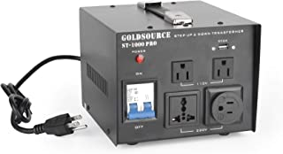 1000W Auto Step Up & Step Down Voltage Transformer Converter, ST-Pro Series Heavy-Duty AC 110/220V Converter with US Standard, Universal, Schuko AC Outlets & DC 5V USB Port by Goldsource