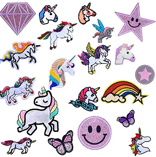 Parches De Unicornio Para Ropa,Patch Stickers Ropa,Para Manualidades,Parches Para Planchar Infantil, Patch Sticke,Camisas, Vaqueros, Ropa, Bolsos, Parches, Etc. (Unicorn)