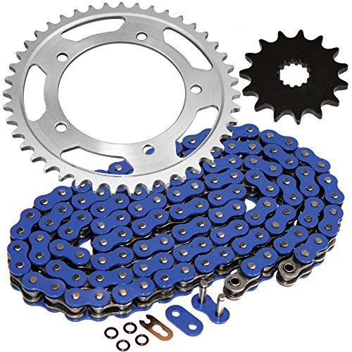 Caltric Blue O-Ring Drive Chain & Sprockets Kit for Suzuki 600 Gsx-R600 Gsxr600 2006-2010
