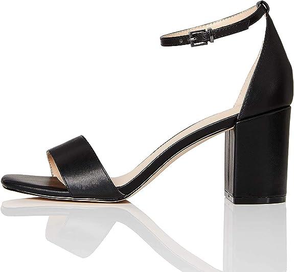 TALLA 39 EU. Marca Amazon - find. Zapatos con tacon y correa de tobillo Mujer