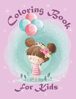 Coloring Book for Kids: Fun Cute and Stress Relieving Cartoon Coloring Book | For Little Kids From 4+