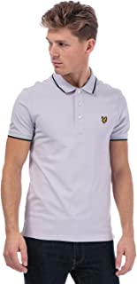Lyle And Scott Mens Tipped Slim Stretch Polo Shirt in Lilac.