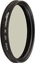 AmazonBasics Circular Polarizer Camera Photography Lens - 55 mm