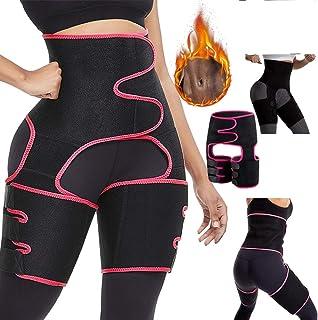 UKKUER Waist Trimmer for Women,Waist Trainer for Women,High Waist Ultra Light Butt Lifter Shaper Thigh Trimmers with Adjus...