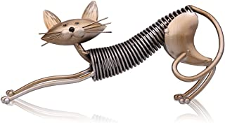 Tooarts Metal Sculpture Iron Art Cat Spring Handicraft Crafting Home Decoration Furnishing Craft