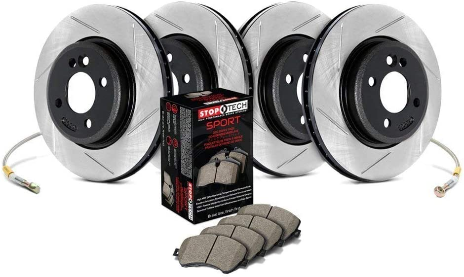 Stoptech 987.22006 Sport Axle depot Pack 4 Our shop most popular Slotted Wheel