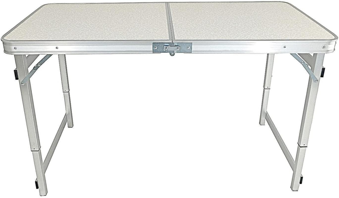 Aluminum Folding Table 4 sale Foot Online limited product Lightweight Adjustable Height Port