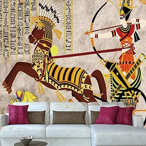Papel Tapiz Fotográfico murales Tiro Con Arco Caballo Egipto Premium Papel Tapiz Fotográfico Impermeable murales Poster Photo Premiummurales no tejido TV fondo de pared ,W350xH256CM
