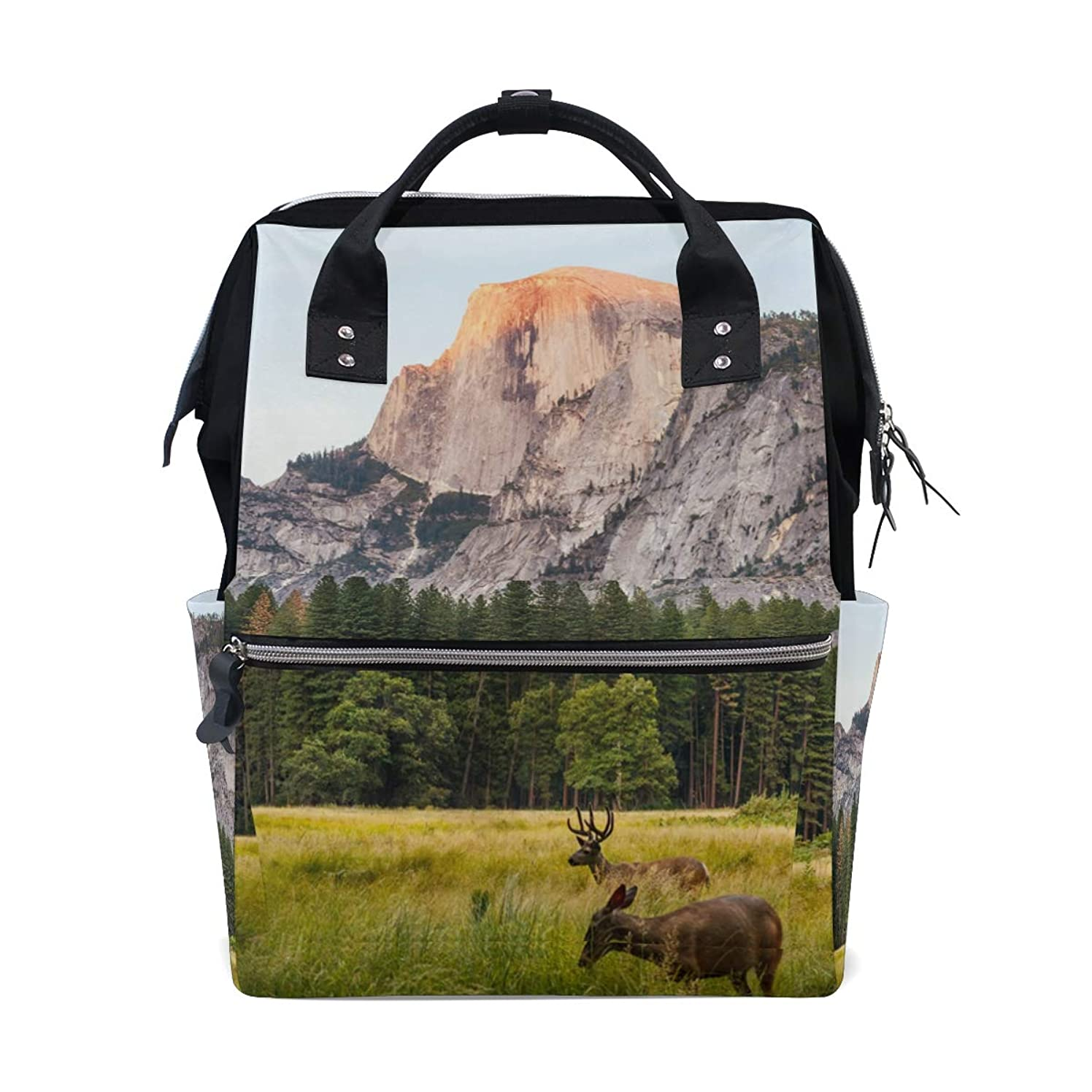 Backpack Mountain Tree Deer School Rucksack Diaper Bags Travel Shoulder Large Capacity Bookbag for Women Men
