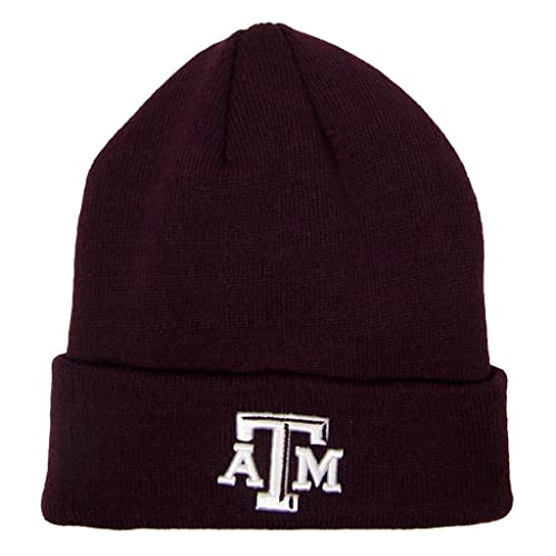 online store 70e2b c42da Texas A M Aggies Official NCAA One Size Simple Knit Cuffed Beanie Hat by  Top of the