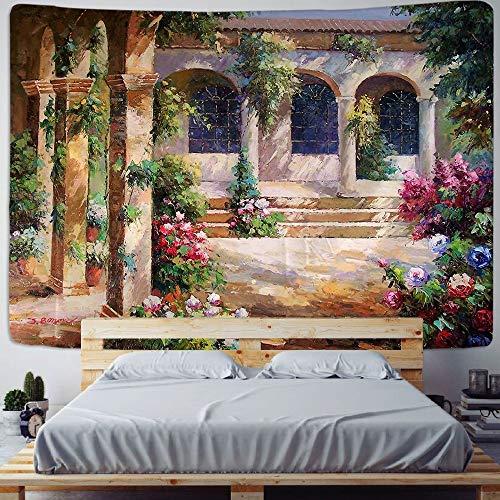 Tapiz de mandala decoración de construcción de castillo indio tela de pared bohemia para colgar en la pared tela de fondo de habitación a3 180x200cm