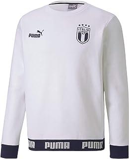 PUMA Men`s Culture Crew Sweater, White-Peacoat
