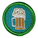 Adult Beverage Drinking Novelty Merit Badge - 1.5' Embroidered Patch with Adhesive Backing