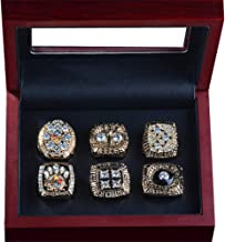TWCUY Pittsburgh Steelers Championship Rings 6 Years Set Super Bowl 1974 1975 1978 1979 2005 2008 Champions Ring for Men