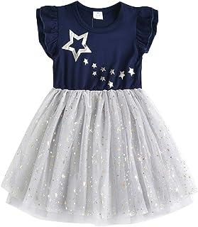 Vestido Bordado Mariposa Algodón Tulle Tutu Sin Mangas Verano Niñas 2-8 Años