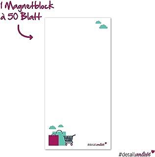 PRICARO Speed 5 pezzi 25 fogli formato A6 colore rosa Blocco magnetico per lista della spesa