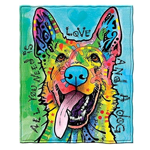 Love and a Dog Super Soft Throw Blanket