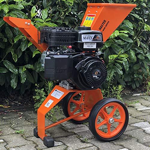 Trituradora de gasolina, 6 CV, motor de 4 tiempos, 208 ccm, rama de madera, trituradora de jardín, trituradora de motor, trituradora de tambor