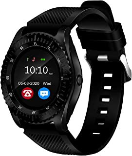 """Bouncefit Vector 4 Round Calling Smartwatch Black iOS/Android Compatible, IP67 Water Resistant, Black Silicone Strap, 1.3""""..."""