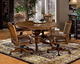 Hillsdale Furniture 5 Piece Nassau Game Set with Leather Back Game Chair