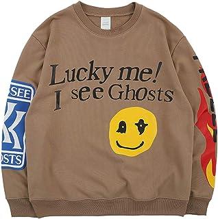 Travis Scott Kanye Lucky Me I See Ghosts Felpe Senza Cappuccio Sweatshirt