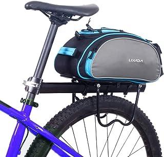 Lixada Bicycle Rack Bag 13L Multifunctional Bicycle Rear Seat Bag Cycling Bike Rack Seat Bag Rear Trunk Pannier Backseat B...