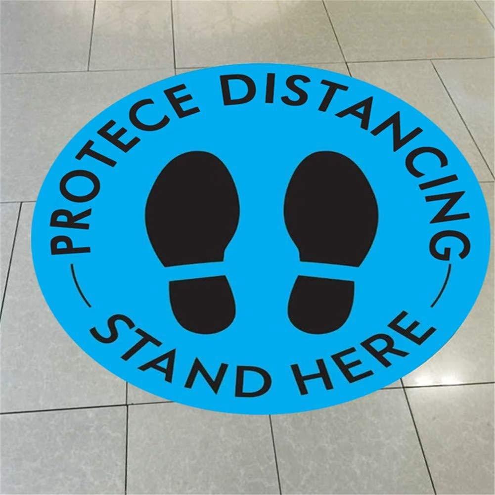 Social Distancing Floor Decals 11 Round Maintain 6 Foot Distance ...