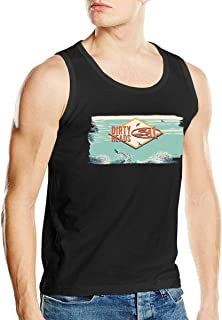 Mens Sleeveless Flag Print Fitness Tank Top Casual Sport Gym Tight-Drying Vest Shirt Beautyfine