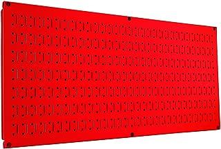 Wall Control Pegboard 16in x 32in Horizontal Red Metal Pegboard Tool Board Panel