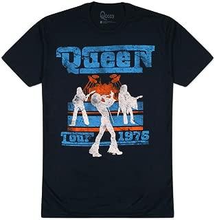 Queen Men's Tour 76 Slim Fit T-Shirt Blue